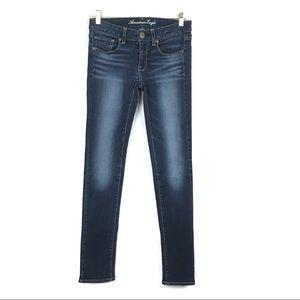 American Eagle Skinny Stretch Jeans Dark Wash 6